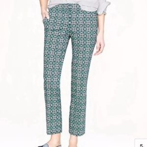 J. Crew Campbell pant lattice medallion
